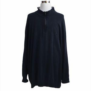 Nautica Navy Blue Quarter Zip Long Sleeve Pullover